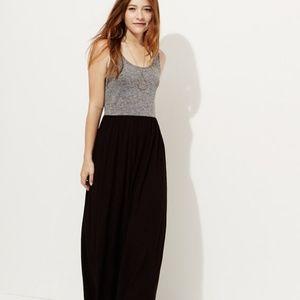 Black and Gray Maxi Dress L/XL